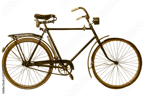 Aluminium Fiets Retro styled image of a nineteenth century bicycle