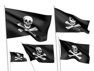 Jolly Roger vector flags (Edward England)