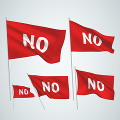 No - red vector flags