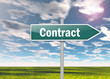 "Signpost ""Contract"""
