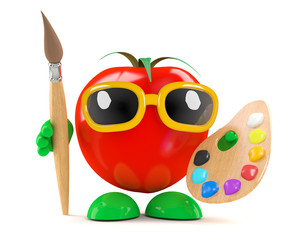 Tomato paints with oils
