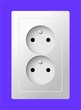 white electric double socket