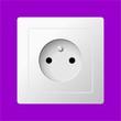 white electric socket