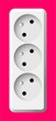 white electric tripple socket