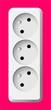 white electric tripple socket