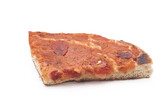 sicilian traditional pizza sfincione isolated