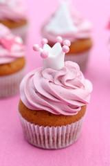 Cupcake mit Krönchen