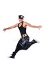 Rap dancer isolated on the white