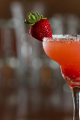 strawberry margarita garnish