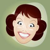 retro cartoon woman