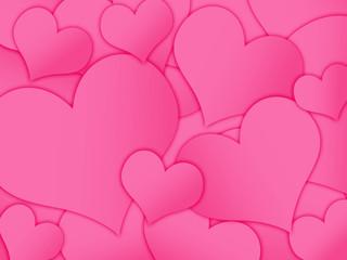 Fundo com corações