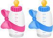 Baby bottle with bow tie