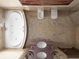 Interior the bathroom in classic style