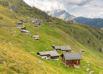 huts at Belalp. Switzerland