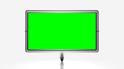 Green screen (alpha) on the wheel. Against a white background