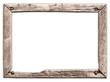 canvas print picture - Ein alter, kaputter Holzrahmen, marode