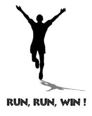 Jogger Wettkampf gewinnen