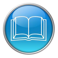 Bottone vetro libro
