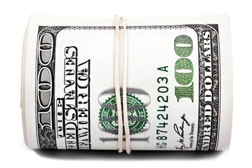 Roll of 100 US$ Bills