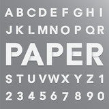 Fototapety White paper alphabet with shadow