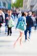 Foto mit Zoom-Effekt vom Einkaufsbummel in der Stadt