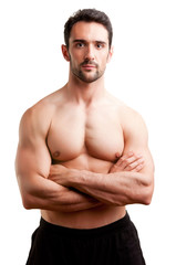 Fit Man Standing With Arms Crossed