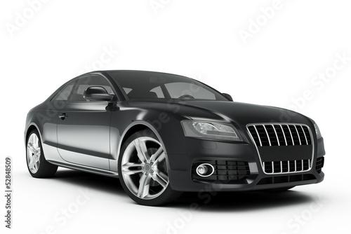Black Sport Car - 52848509