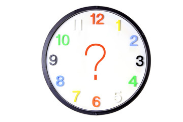 Wall Clock with Question Mark