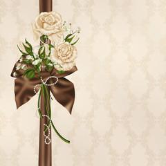 ivory wedding rose bouquet