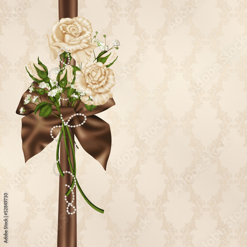 ivory wedding rose bouquet