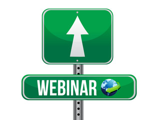 webinar road sign illustration design isolated