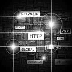 HTTP. Word cloud concept illustration.