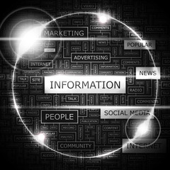 INFORMATION. Word cloud concept illustration.