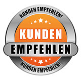 5 Star Button orange KUNDEN EMPFEHLEN KE KE
