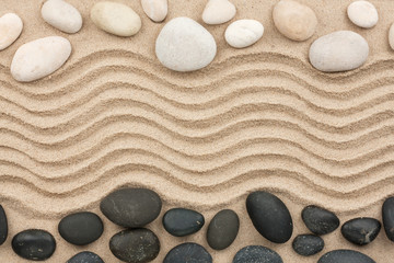 Stone with sand as background