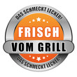 5 Star Button orange FRISCH VOM GRILL
