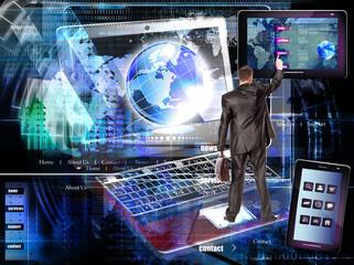 Internet website network.E-business