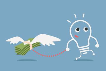 bulb idea and money