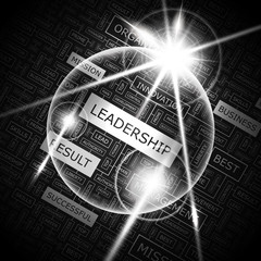 LEADERSHIP. Word cloud concept illustration.