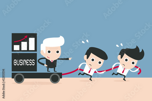 advantage business cartoon, vector
