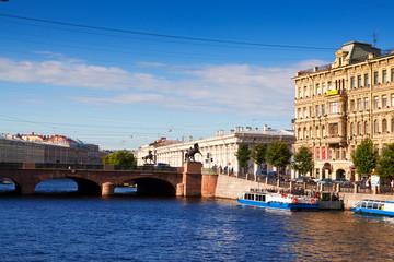 View of St. Petersburg. Anichkov Bridge