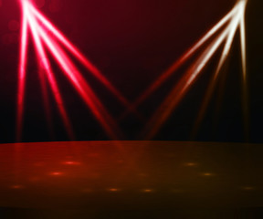 Red Stage with Spotlight Backdrop