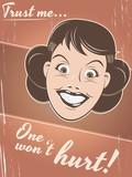 retro cartoon poster