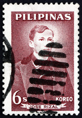 Postage stamp Philippines 1962 Jose Rizal, National Hero