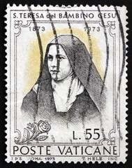 Postage stamp Vatican 1973 St. Teresa of Lisieux, Carmelite Nun