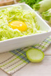 Grated zucchini with egg