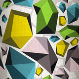 Seamless pattern of abstract diamonds