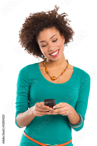 Young Woman Writing Sms