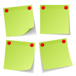 4 Green Stick Notes Red Magnets
