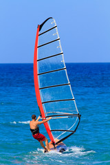 Man windsurfing Recreation